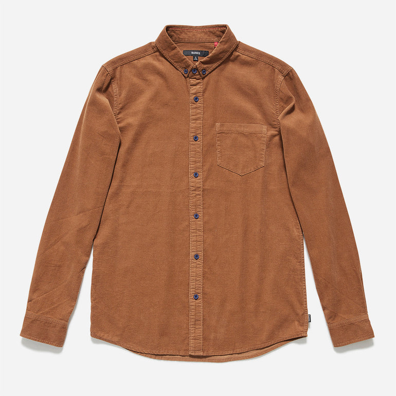 BANKS Conductor Woven Shirt - Golden Deer