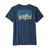 Women's Fitz Roy Far Out Organic Crew Pocket T-Shirt - Stone Blue