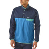 Men's Houdini Snap-T Pull Over - Stone Blue w/new navy