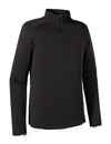 Men's Cap Thermal Weight Zip Neck - Black