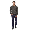 Men's Organic Cotton Quilt Crewneck Sweatshirt - Pigeon Blue