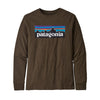 Boys' Long Sleeve Graphic Organic T-Shirt - P-6 Logo: Logwood Brown