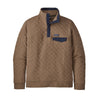 Men's Organic Cotton Quilt Snap-T Pull Over - Owl Brown
