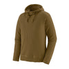 Men's Waffle Knit Pull Over Hoody - Mulch Brown
