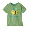 Baby Live Simply Organic T-Shirt - Live Simply Bee Cool Man: Thistle Green