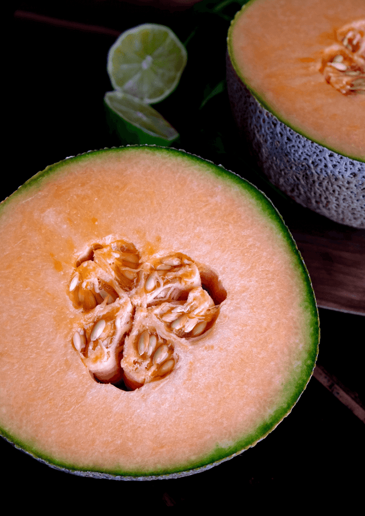 flesh and seed: cooling cantaloupe milk smoothie