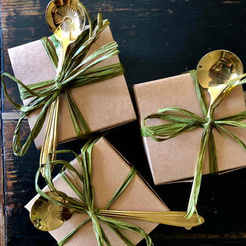 GIFT BOX WITH GOLD SPOON