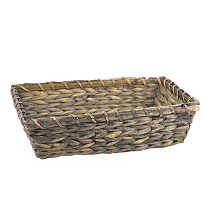 Sea grass bamboo basket tray