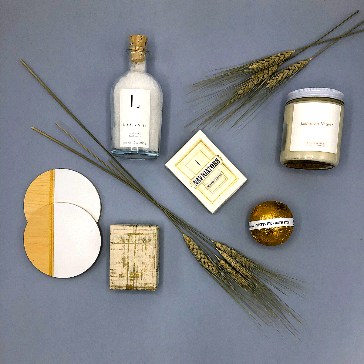 A limited edition mother's day gift with gorgeous bath products, premium playing cards, stunning coaster and a candle she will love.