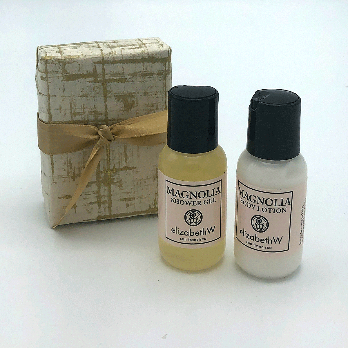 Magnolia Travel Set with Shower Gel and Body Lotion
