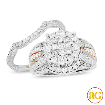 14KW 2.00ctw Diamond Bridal Set