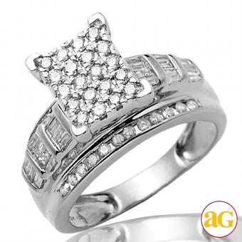 10KW 1.00ctw Diamond Cinderella Ring