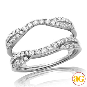 14KW 0.55ctw Diamond Bridal Ring Guard