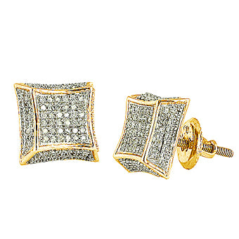 10KY 0.25ctw Diamond Earrings 3D style