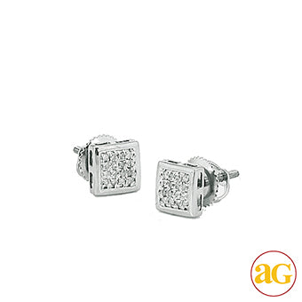 10KW 0.10ctw Diamond Dome Earrings