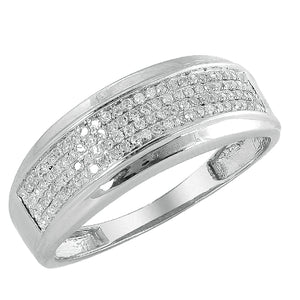 14KW 0.50ctw Diamond Men's Band