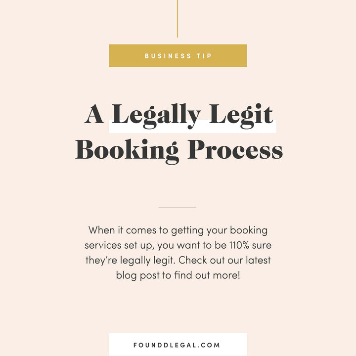 A Legally Legit Booking Process
