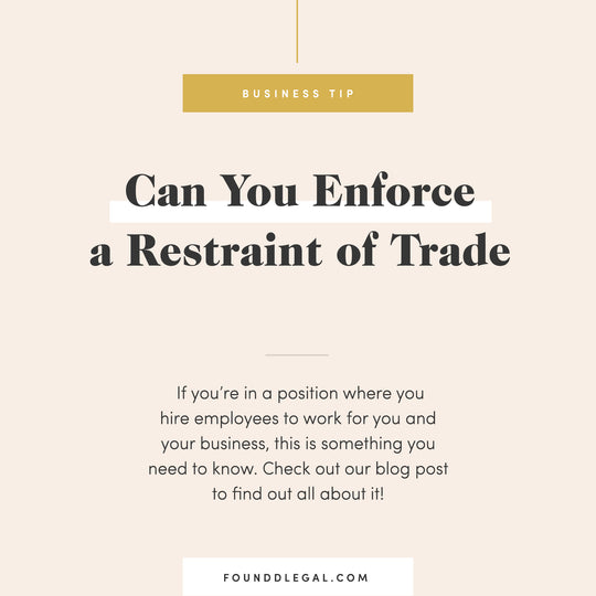 Enforcing Restraint Of Trade Against A Former Employee