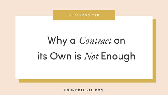 Why Contracts Alone are not Enough