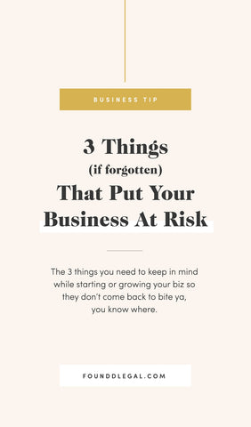 3 Things That Put Your Business At Risk