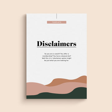 Cover of the Disclaimer Template