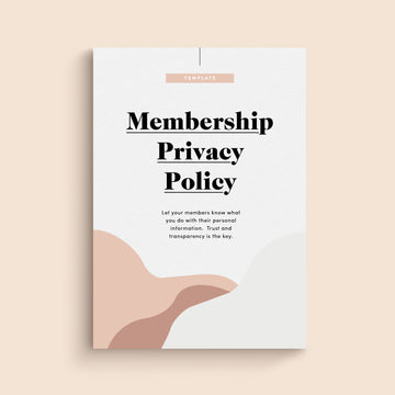 Privacy Policy for Membership Programs Template