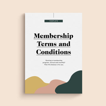 Membership Terms & Conditions Template