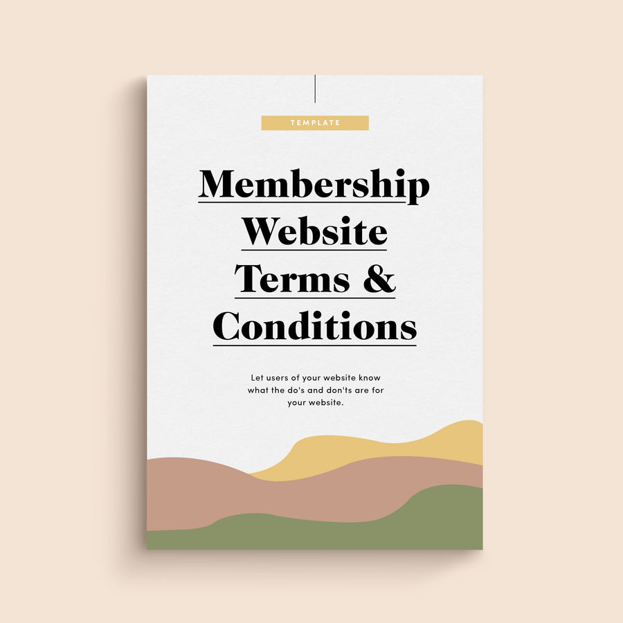 Membership Website Terms & Conditions Template