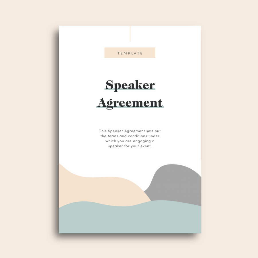 Speaker Agreement Template
