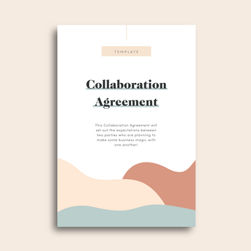 Collaboration Agreement Contract Template