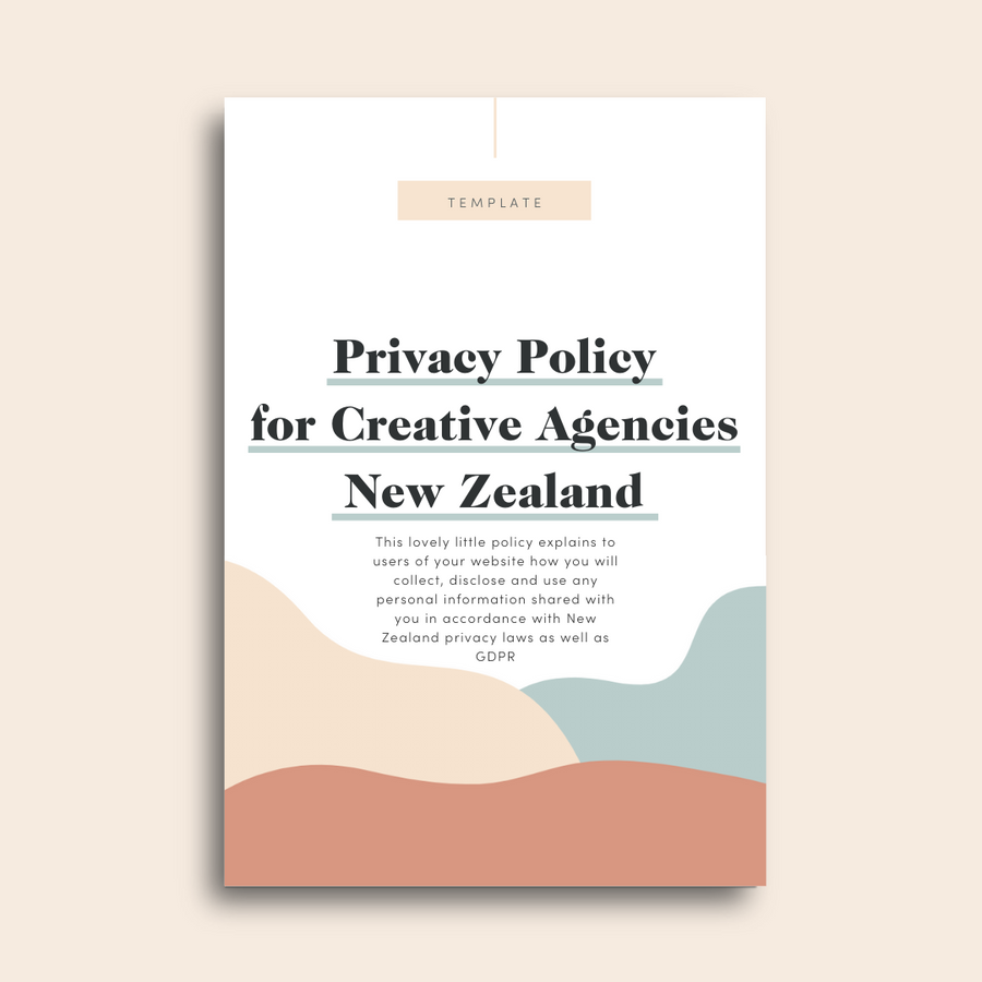 Privacy Policy Template for Creative Agencies (New Zealand)