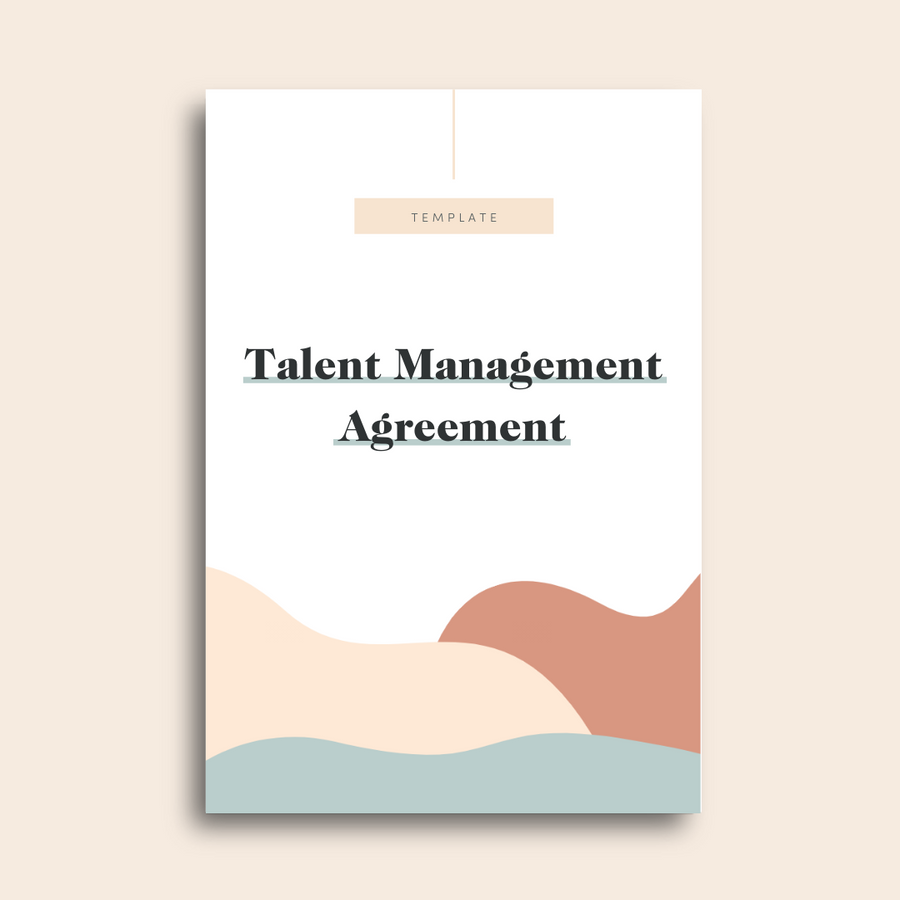 Talent Management Agreement Template
