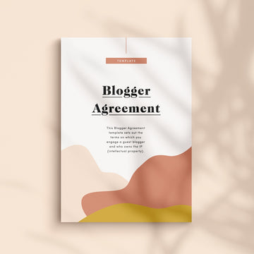 Blogger Agreement Contract Template for Guest Bloggers