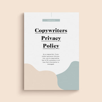 copywriter privacy policy template