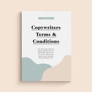 Copywriters Website Terms & Conditions | Template