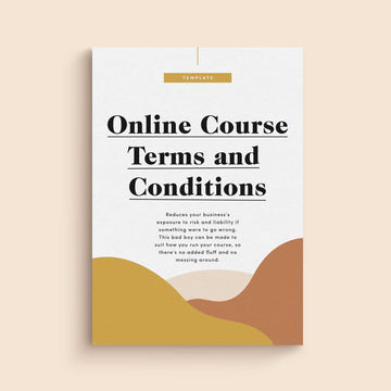 Online Course Terms & Conditions Template