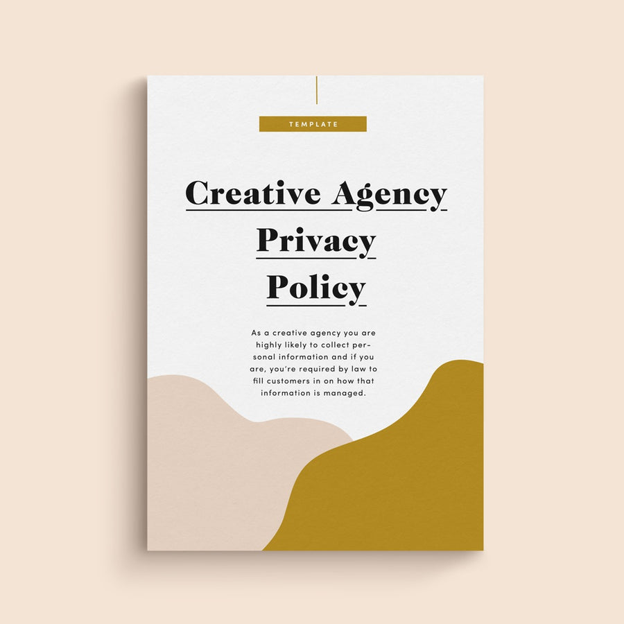 privacy policy template for creative agencies