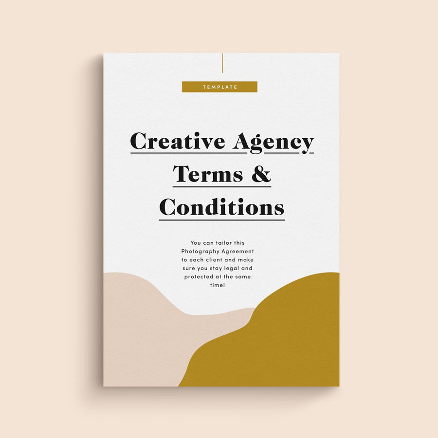 website terms & conditions template for creative agencies