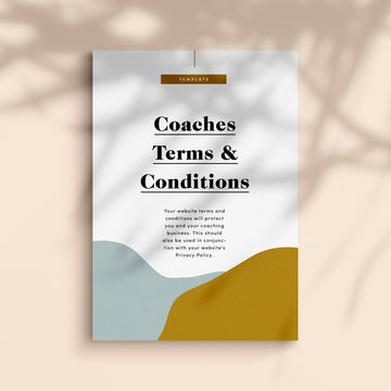website Terms & conditions template for coaches