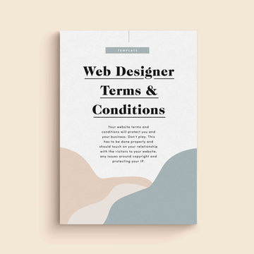 Website Terms & Conditions for Web Designers Template