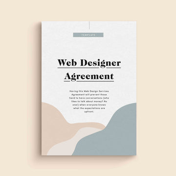 Web Designer Services Agreement Template