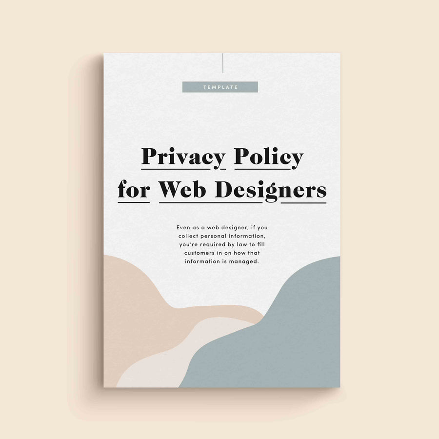 Privacy Policy for Web Designers Template