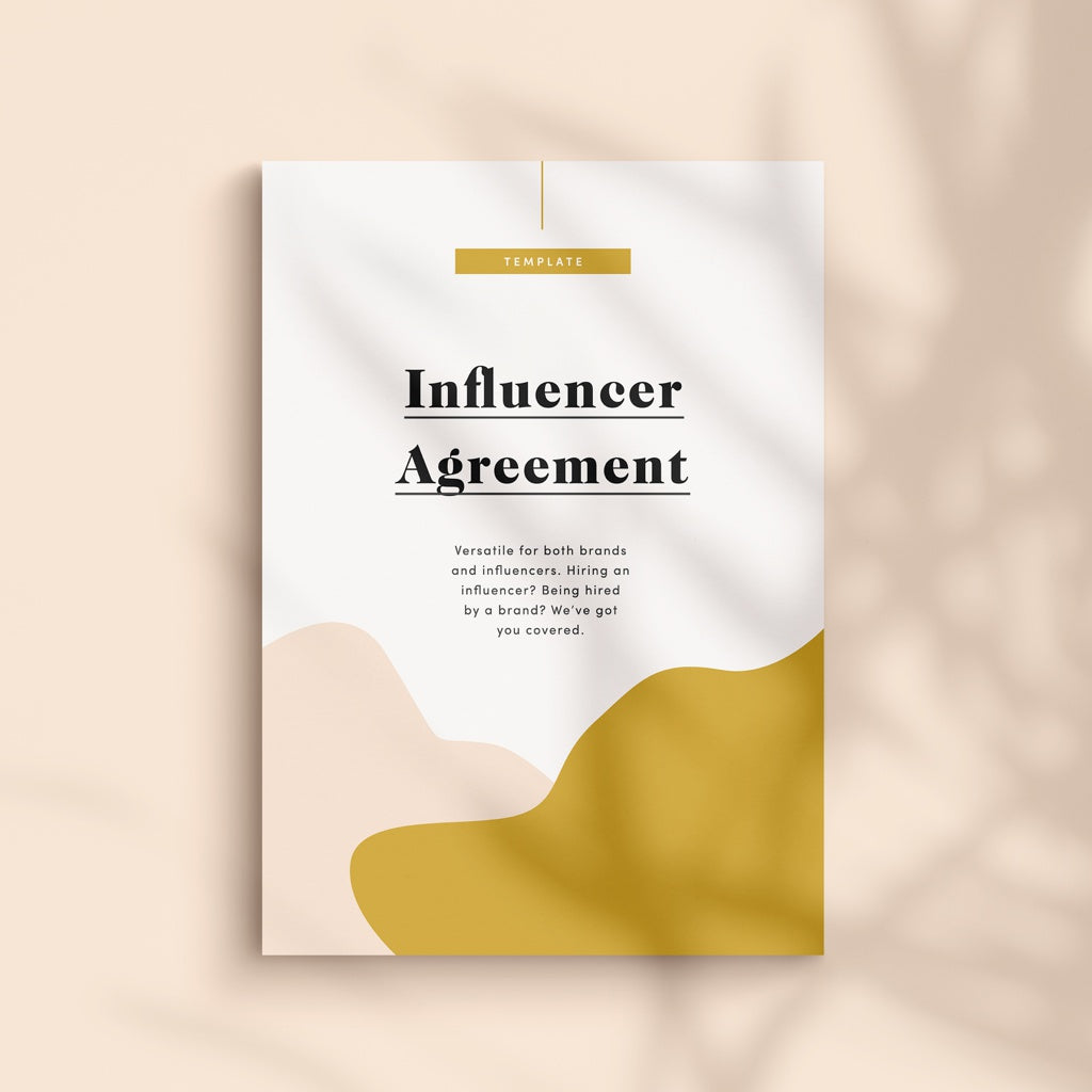Influencer Agreement Contract Template - Foundd Legal