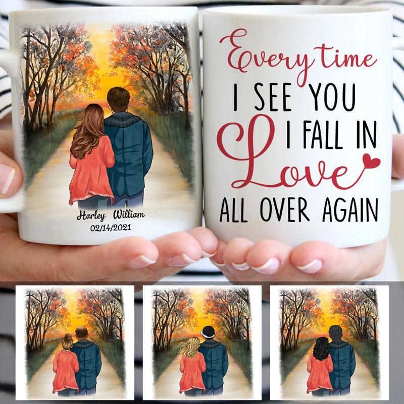Everytime I See You, Sunset, Anniversary gifts, Personalized Mugs, Valentine's Day gift