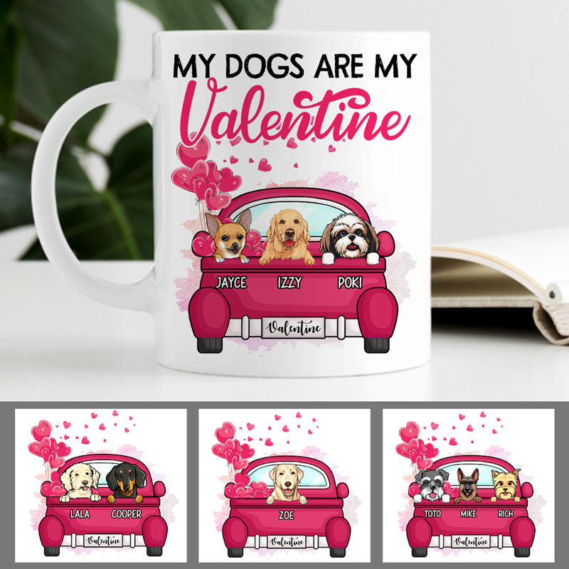 My Dog is My Valentine, Personalized Mug, Custom Gifts for Dog Lovers