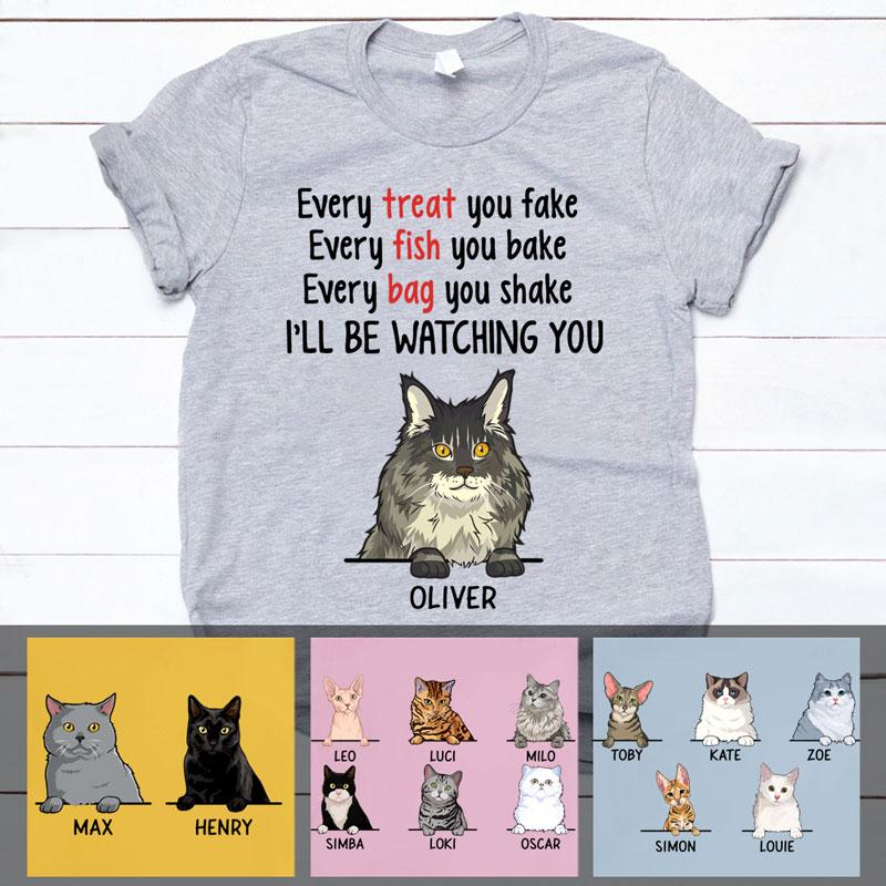 Every Fish You Bake, Custom Shirt, Personalized Gifts for Cat Lovers