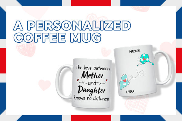 Long Distance Mother Quotes Personalized State Coffee Mug