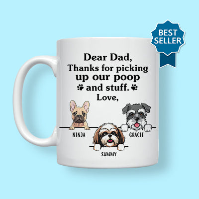 Happy Father's Day Furry Overlord Mugs, Funny Custom Coffee Mug, Personalized Gift for Cat Lovers
