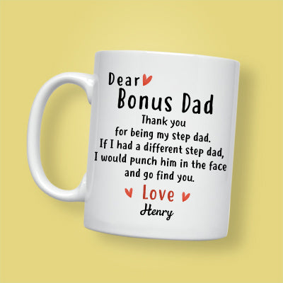 Details about  /Personalized Father/'s Day Gift For Step Dad Fathers Day Gift For Stepfather Mug