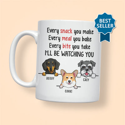 I'll Be Watching You, Funny Personalized Mug, Father's Day gift, Custom Gift for Dog Lovers